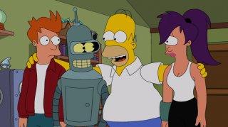 Simpsorama: una scena del crossover tra I Simpson e Futurama