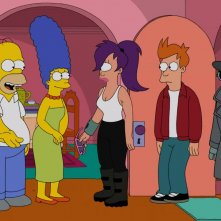 Simpsorama: una scena dell'episodio crossover tra I Simpson e Futurama