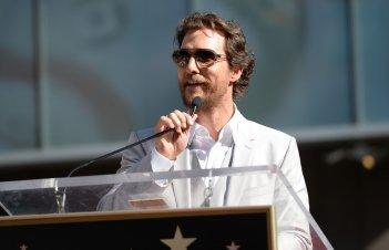 Matthew McConaughey in occasione della cerimonia per la stella sulla Walk of Fame