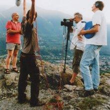 Qui: il regista Daniele Gaglianone sul set del documentario