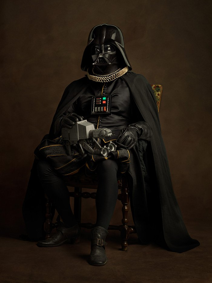 Darth Vader rinascimentale in una foto di Sacha Goldberger