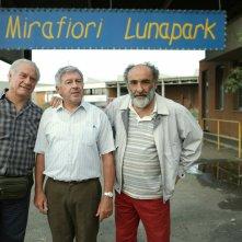 Mirafiori Lunapark: Alessandro Haber con Antonio Catania e Giorgio Colangeli in un'immagine promozionale