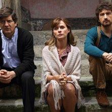 Si accettano miracoli: Alessandro Siani on Fabio De Luigi e Serena Autieri in una scena del film