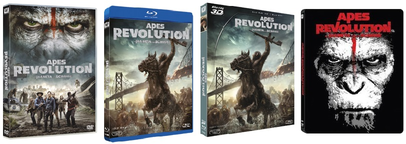 Le cover homevideo di Apes Revolution