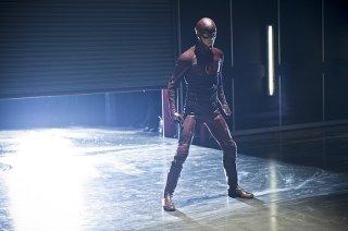 The Flash: Grant Gustin in una scena dell'episodio intitolato Power Outage