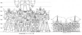 Super Robot a confronto: uno schema che ne indica le diverse altezze