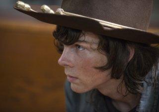 The Walking Dead: Chandler Riggs in una scena dell'episodio Coda
