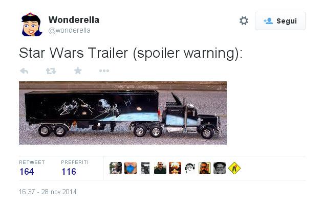 Star Wars - vignetta social sul risveglio della forza