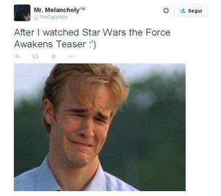Star Wars: il risveglio della forza - una battuta sui social