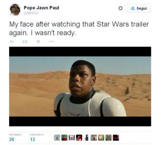 Star Wars - il risveglio della forza: vignetta sui social