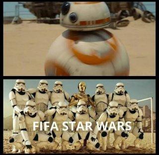 Star Wars - il risveglio della forza: vignetta sul droide