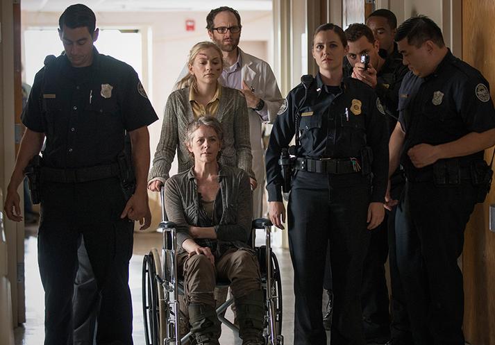 The Walking Dead: Emily Kinney, Melissa McBride, Erik Jensen e Christine Woods in Coda
