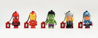 Chiavette usb da 8 Gb dei supereroi Marvel