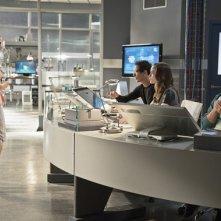 The Flash: Emily Bett Rickards, Tom Cavanagh, Daniella Panabaker e Carlos Valdes in Flash vs. Arrow