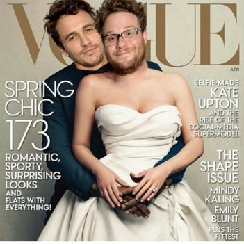 James Franco e Seth Rogen come Kim Kardashian e Kanye West