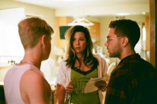 Mommy: Anne Dorval sul set con Antoine-Olivier Pilon e con il regista Xavier Dolan