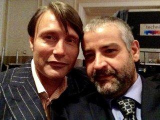 Hannibal, terza stagione - Fortunato Cerlino con Mads Mikkelsen