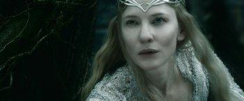 Lo Hobbit: La Battaglia delle Cinque Armate, Cate Blanchett in una scena