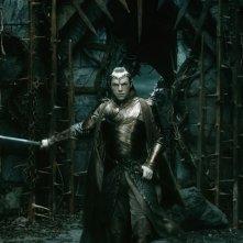 Lo Hobbit: La Battaglia delle Cinque Armate, Hugo Weaving in una scena