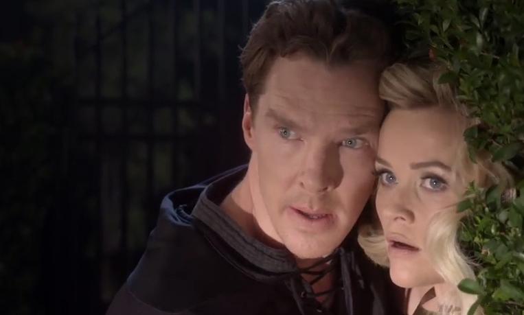 Benedict Cumberbatch e Reese Witherspoon nel corto '9 kisses'