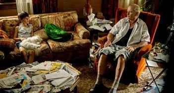 St. Vincent: Bill Murray in una scena del film con Jaeden Lieberher