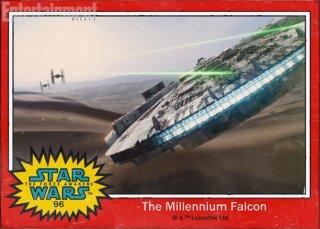 Star Wars: Il risveglio della forza - il Millennium Falcon nella figurina Topps