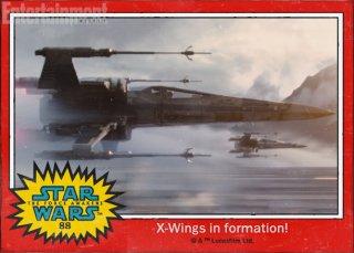 Star Wars: Il risveglio della forza - gli X-Wings nella figurina Topps