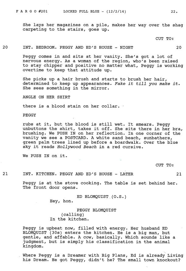 Fargo: la prima pagina dello script della stagione 2