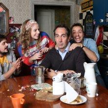 Zio Gianni: una foto di gruppo sul set
