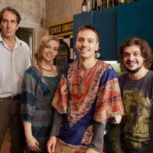 Zio Gianni:  Luca Di Capua, Paolo Calabresi e Cristel Checca in una foto sul set
