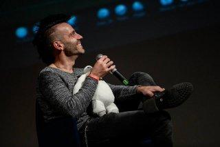 Stefano Dubay con Baymax di Big Hero 6 al Festival Pontino del Cortometraggio