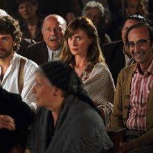 Si accettano miracoli: Alessandro Siani con Serena Autieri e Giovanni Esposito in una scena del film