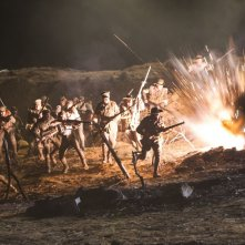 The Water Diviner: esplosioni di guerra in una scena del film