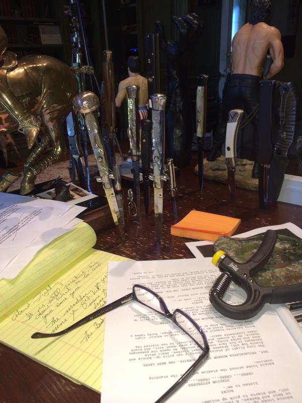 Creed - una immagine dello script postata da Stallone su Twitter
