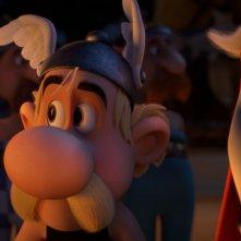Asterix e il Regno degli Dei: il baffuto Asterix in una scena del film animato