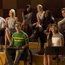 Glee: alcuni dei membri del cast della serie nell'episodio intitolato Homecoming