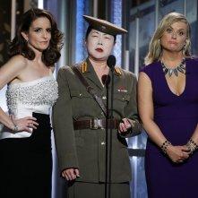 Golden Globes 2015 - Amy Poehler e Tina Fey con Margaret Cho