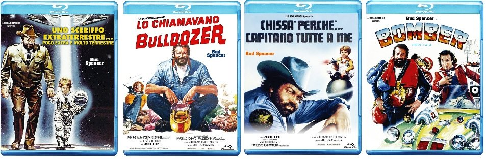 Le cover blu-ray di Bud Spencer