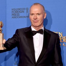 Michael Keaton ai Golden Globes 2015 premiato per Birdman