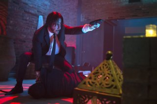 John Wick: Keanu Reeves in una scena del film action