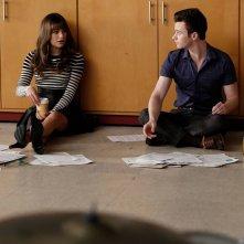 Glee: Lea Michele e Chris Colfer in una scena di Jagged Little Tapestry