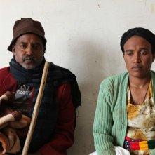 Difret - Il coraggio per cambiare: Mekonen Laeke e Meaza Tekle in una scena