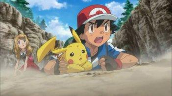 Pokémon Il Film - Diancie e il Bozzolo della Distruzione: Pikachu con Ash in una scena del film animato