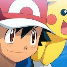 Ash e Pikachu in una scena di Pokémon Il Film - Diancie e il Bozzolo della Distruzione