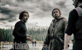 Inarritu e DiCaprio sul set di The Revenant