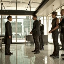 Daniel Dae Kim, Shailene Woodley e Theo James in una scena di The Divergent Series: Insurgent