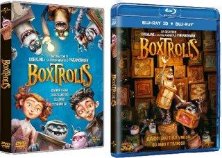 Le cover homevideo di Boxtrolls - Le scatole magiche