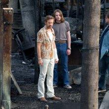 The Nice Guys - Ryan Gosling, Russell Crowe e Jack Kilmer sul set