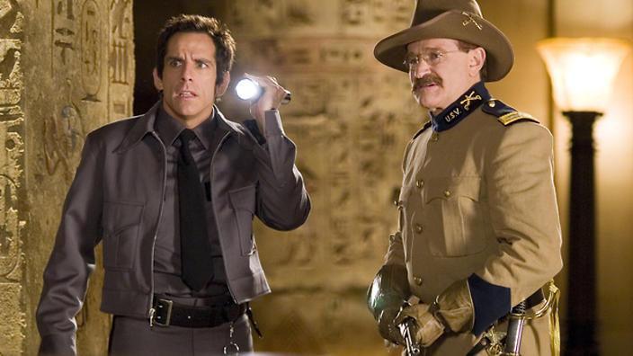 Notte al museo - Il segreto del faraone: una scena con Ben Stiller e Robin Williams