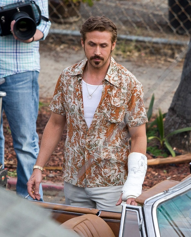 The Nice Guys - Ryan Gosling sul set del film